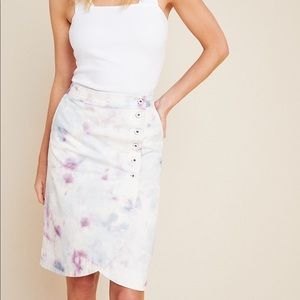 NWT Anthropologie Kimmie Tie-Dyed Tulip Midi Skirt